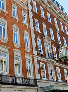 London iconic Fortnum and Mason store complete